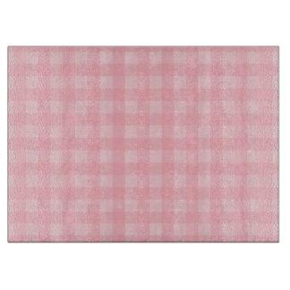 レトロのピンクのギンガムチェック模様のパターン背景 カッティングボード