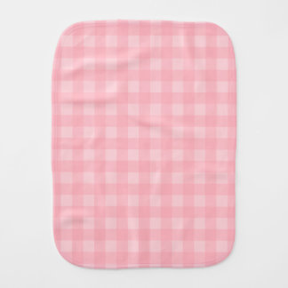 レトロのピンクのギンガムチェック模様のパターン背景 バープクロス