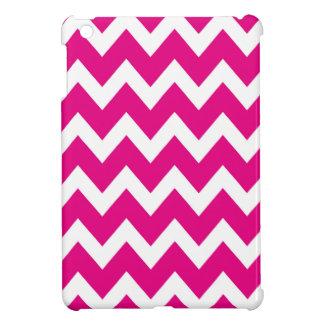 レトロのピンクのジグザグパターン iPad MINIケース
