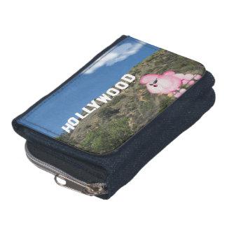 レトロのピンクのプードルのハリウッドカリフォルニアのデニムの財布