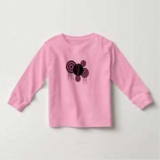 レトロのピンクのリボン トドラーTシャツ