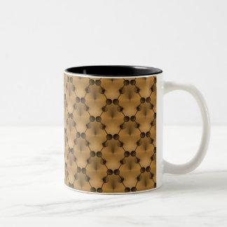 レトロのファンクはマグ、蜂蜜のカラメルを一周します ツートーンマグカップ
