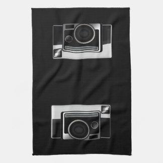 レトロのフィルムのカメラ キッチンタオル