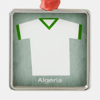 レトロのフットボールジャージーアルジェリア メタルオーナメント