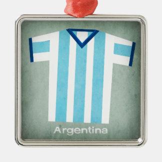 レトロのフットボールジャージーアルゼンチン メタルオーナメント