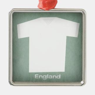 レトロのフットボールジャージーイギリス メタルオーナメント
