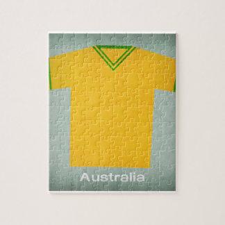 レトロのフットボールジャージーオーストラリア ジグソーパズル