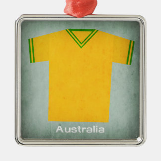 レトロのフットボールジャージーオーストラリア メタルオーナメント
