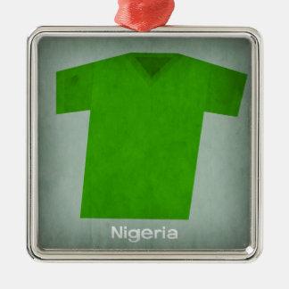 レトロのフットボールジャージーナイジェリア メタルオーナメント