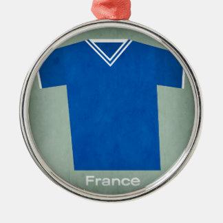 レトロのフットボールジャージーフランス、 メタルオーナメント