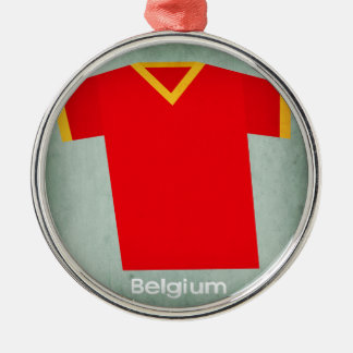 レトロのフットボールジャージーベルギー メタルオーナメント