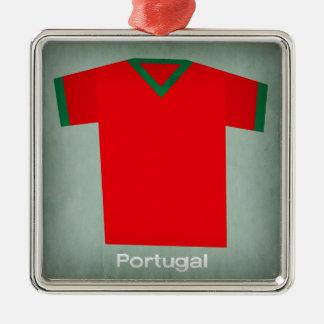 レトロのフットボールジャージーポルトガル メタルオーナメント