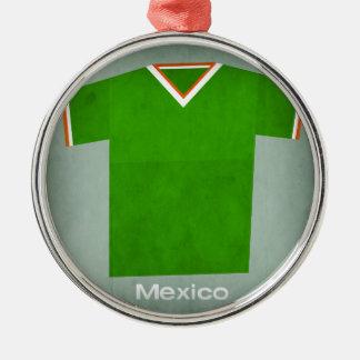 レトロのフットボールジャージーメキシコ メタルオーナメント