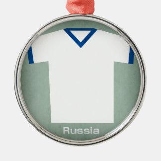レトロのフットボールジャージーロシア メタルオーナメント