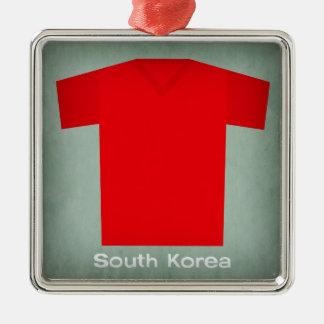 レトロのフットボールジャージー南朝鮮 メタルオーナメント