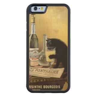 """レトロのフランスのなポスター""""アブサンブルジョア"""" CarvedメープルiPhone 6バンパーケース"""