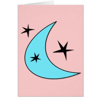 レトロのブーメランの星 カード