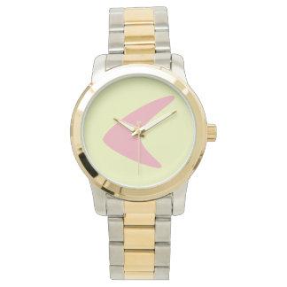 レトロのブーメランのNumberless腕時計 腕時計
