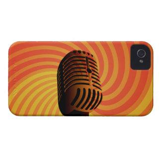 レトロのマイクロフォンのカスタムなiPhoneの場合 Case-Mate iPhone 4 ケース