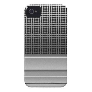レトロのマイクロフォンのデザイン Case-Mate iPhone 4 ケース