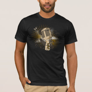 レトロのマイクロフォン Tシャツ