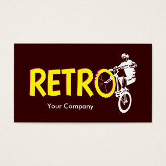 レトロのマウンテンバイクの車輪の立場 名刺