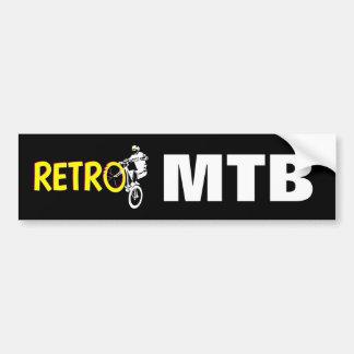 レトロのマウンテンバイク バンパーステッカー