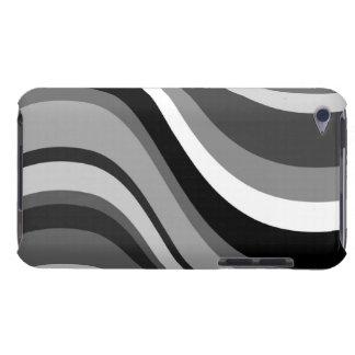 レトロのモダンな波、カーブは、灰色、白いギフト黒くします Case-Mate iPod TOUCH ケース