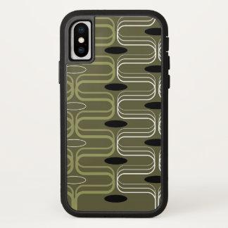 レトロのモダンなOgeeのポッドの緑の抽象美術の電話箱 iPhone X ケース