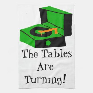 レトロのレコードプレーヤの台所タオル キッチンタオル