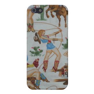 レトロのロデオの女性のカーボーイのSpeckの場合のiPhone 4 iPhone 5 Case