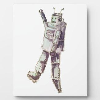 レトロのロボット フォトプラーク