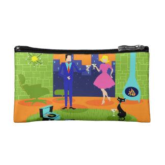 レトロのロマンチックな夕べのカップルの化粧品のバッグ コスメティックバッグ