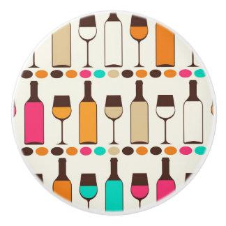 レトロのワイン・ボトルおよびガラス セラミックノブ