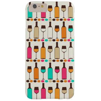 レトロのワイン・ボトルおよびガラス BARELY THERE iPhone 6 PLUS ケース