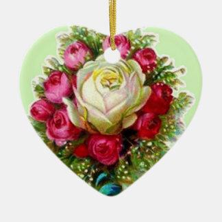 レトロのヴィンテージのばら色の花束のオーナメント セラミックオーナメント