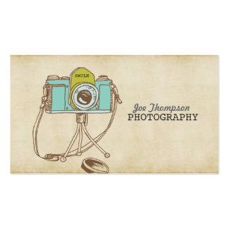 レトロのヴィンテージのカメラのカメラマンの名刺 スタンダード名刺