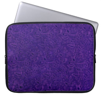 レトロのヴィンテージのガーリーな紫色の花のいくじなしの女の子 ラップトップスリーブ