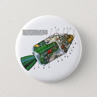 レトロのヴィンテージのサイファイのアポロ宇宙モジュール 缶バッジ