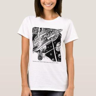 レトロのヴィンテージのサイファイの地球の輸送の攻撃のエイリアン Tシャツ