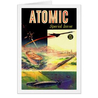 レトロのヴィンテージのサイファイの核原子60年代の雑誌 カード