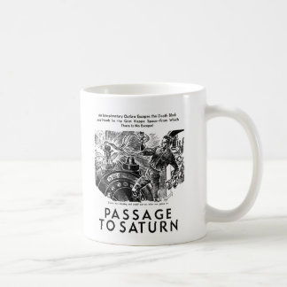 レトロのヴィンテージのサイファイの「土星への道」のストーリーアート コーヒーマグカップ