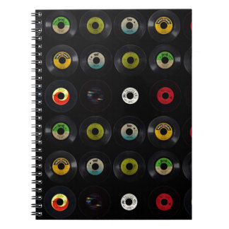 レトロのヴィンテージのビニール45の記録 ノートブック