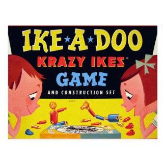 レトロのヴィンテージの低俗なおもちゃのKrazy Ike Ike-A-Doo ポストカード