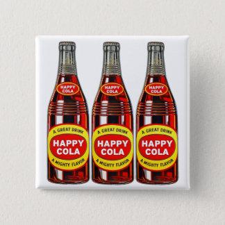 レトロのヴィンテージの低俗なソーダ幸せなコーラのボトル 5.1CM 正方形バッジ