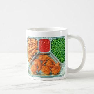 レトロのヴィンテージの低俗なテレビディナー「Shrimp コーヒーマグカップ