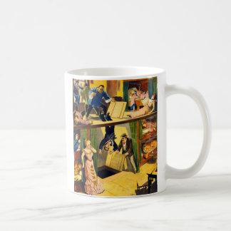 レトロのヴィンテージの低俗なボードビルの「アヘン窟Murder コーヒーマグカップ