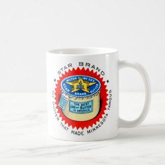レトロのヴィンテージの低俗な星のブランドのバター コーヒーマグカップ