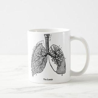 レトロのヴィンテージの低俗な解剖学の医学の肺 コーヒーマグカップ
