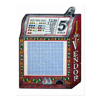 レトロのヴィンテージの低俗な賭博の穿孔器板大当たり ポストカード